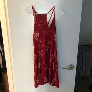 Red floral dress from Express